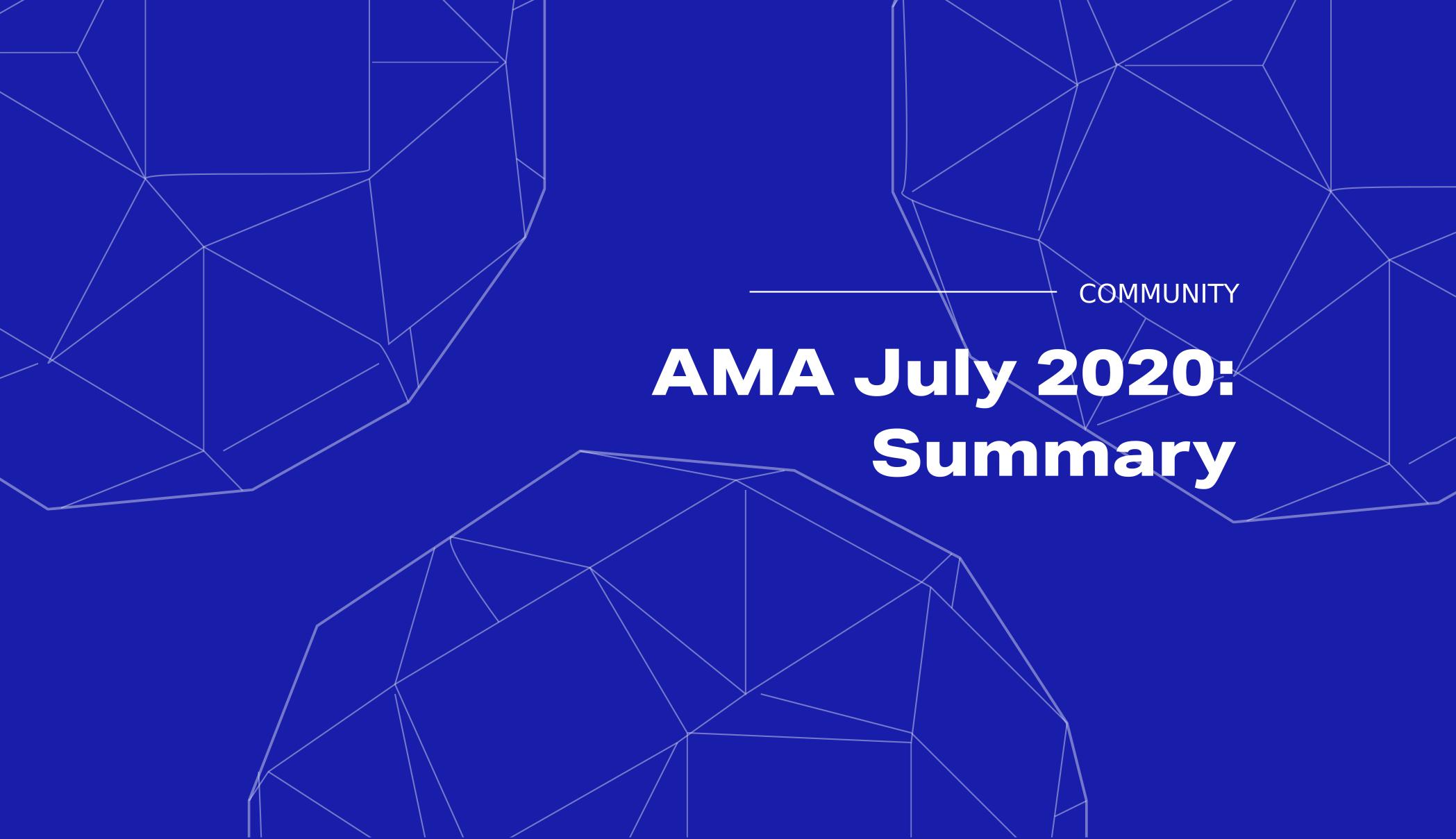 Summary of the Golem AMA July 2020