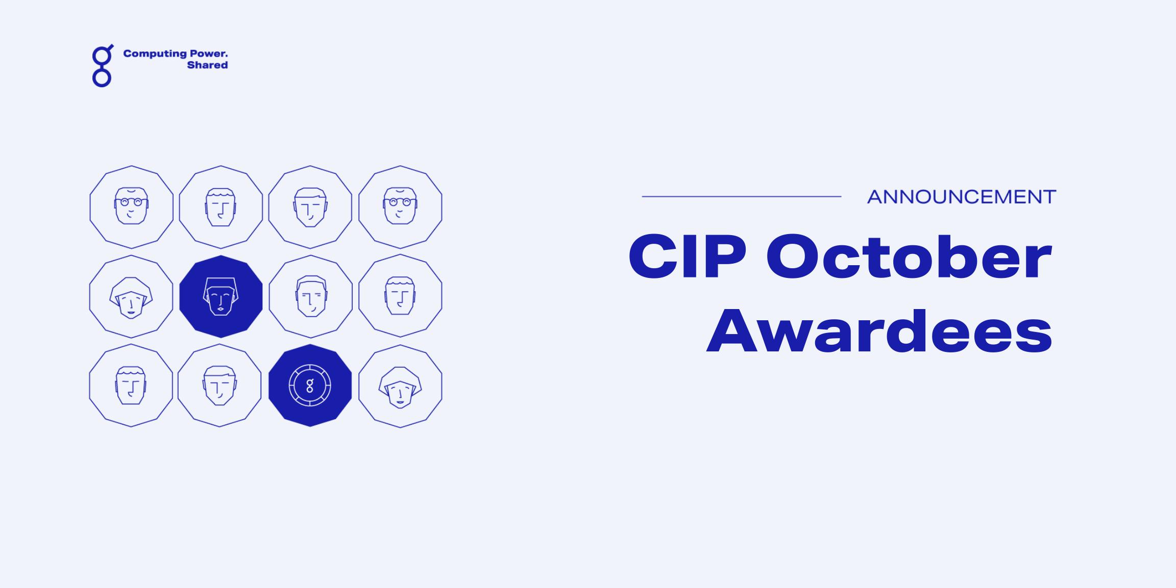 Community Incentives Program (CIP) October Update!