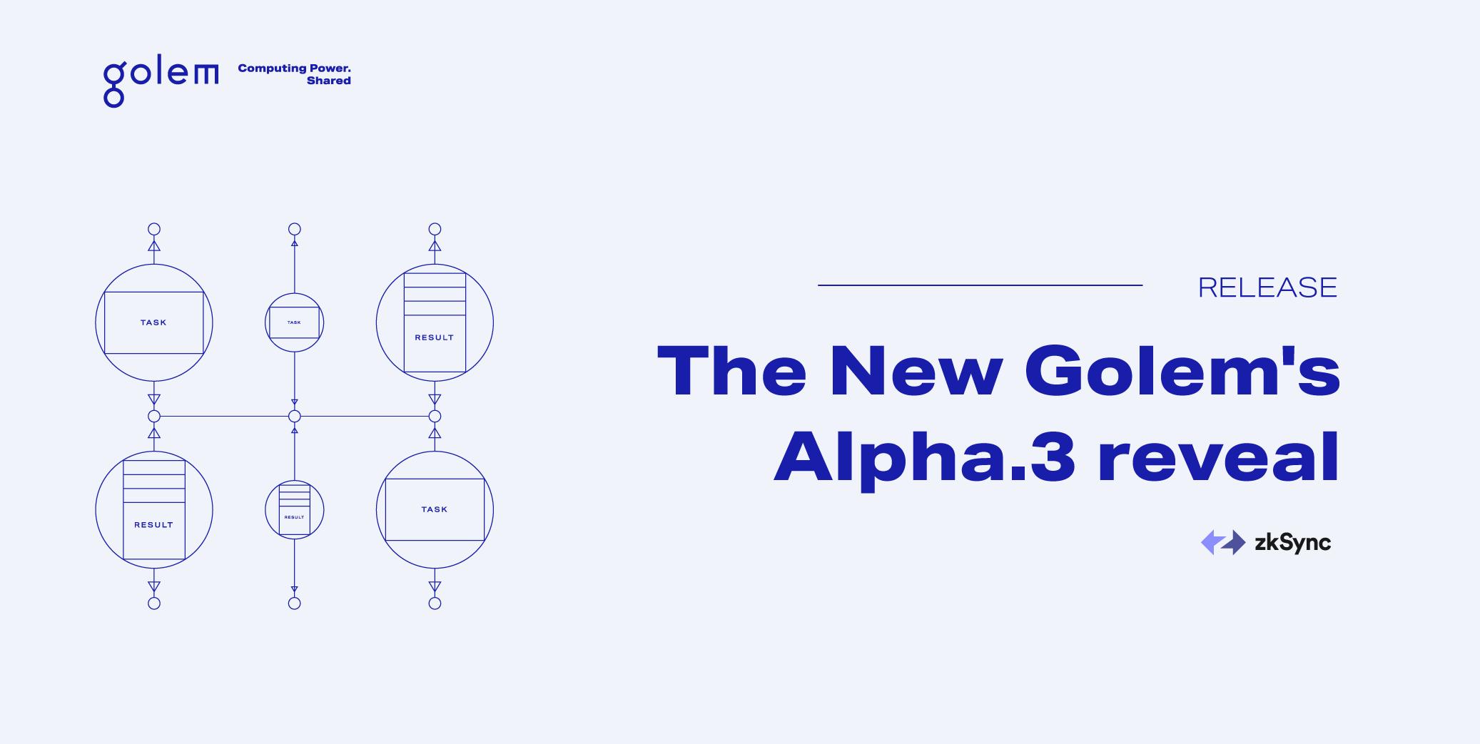 New Golem's Alpha.3 reveal - zkSync integration + more!