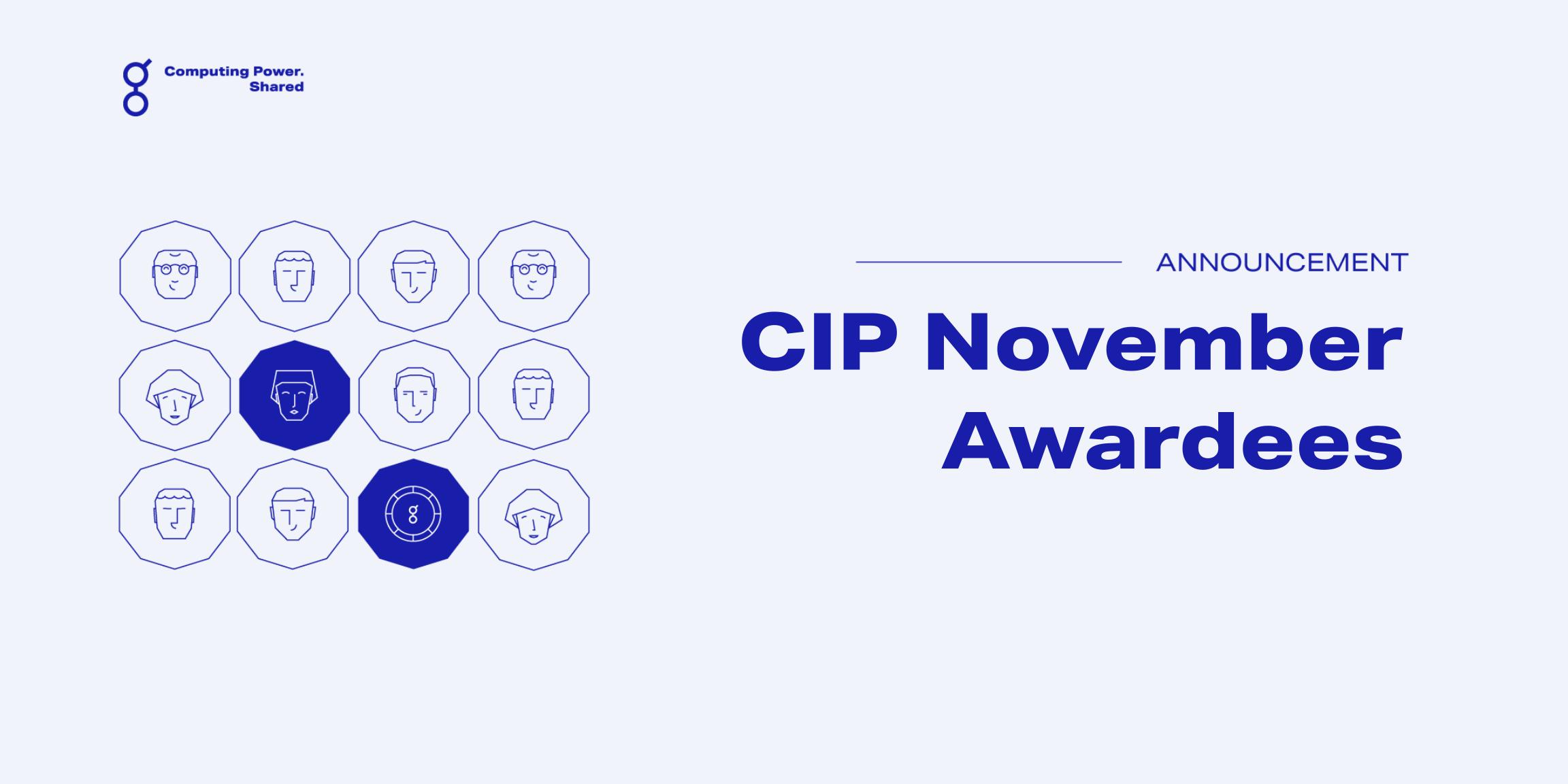 Community Incentives Program (CIP) November Update!