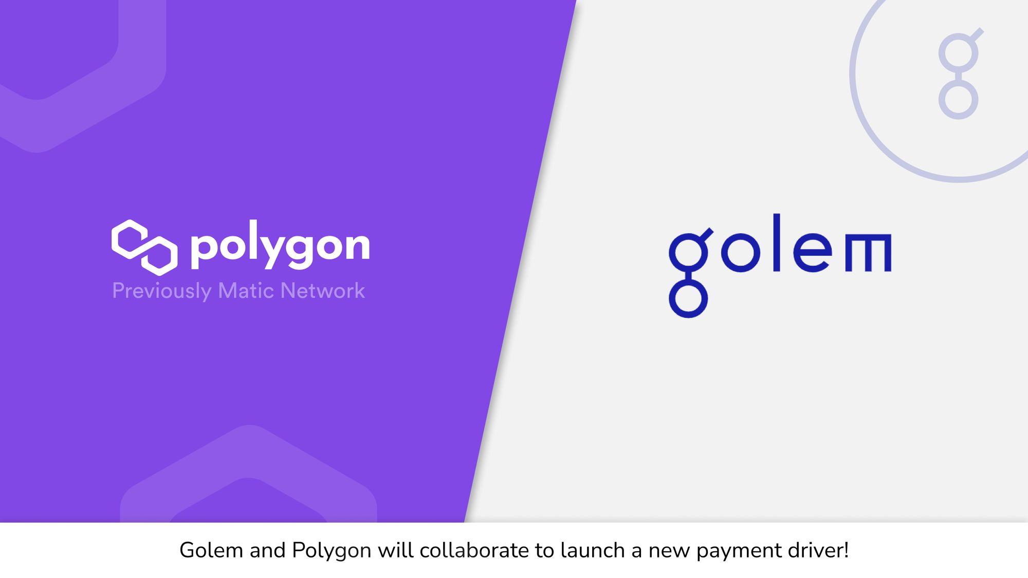 Golem will collaborate with the Polygon team and ecosystem for a new payment driver!