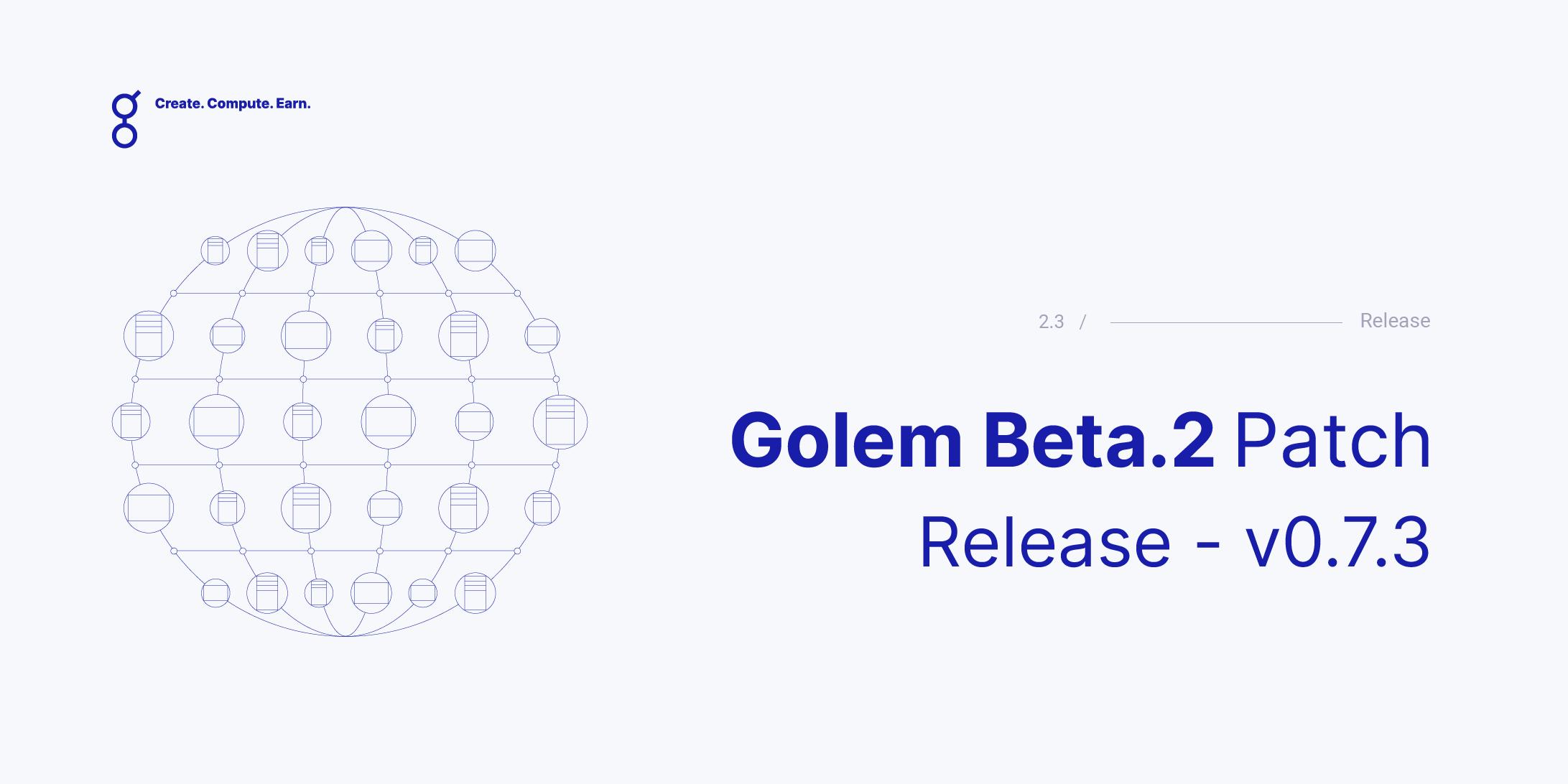 Golem Beta 2 Patch Release - v0.7.3