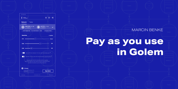 Pay-as-you-use in Golem