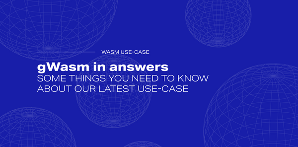 gWasm in answers - some things you need to know about our latest use-case