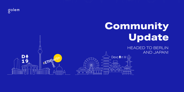 Community Update: headed to Berlin and Japan!