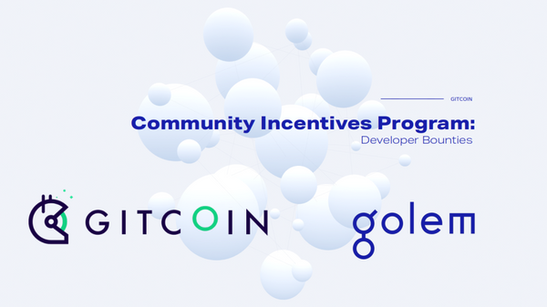 Onboarding developers to Golem via Gitcoin