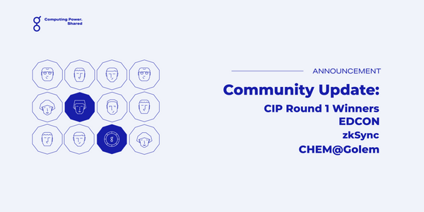 Community Update -  CIP winners(!), EDCON, zkSync, CHEM@Golem + more